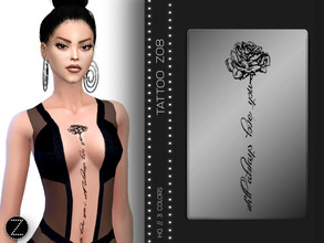 Sims 4 — TATTOO Z08 by ZENX — -Base Game -All Age -For Female -3 colors -Works with all of skins -Compatible with HQ mod