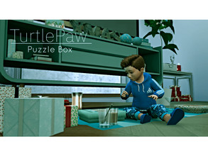 Sims 4 — Puzzle Box by TurtlePaw_CC — This sims 4 Christmas get the brand new TurtlePaw puzzle box A puzzle board will be