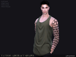 Sims 4 — Tattoo-Abstract shapes by ANGISSI — *For all questions go here-----angissi.tumblr.com *3 black options