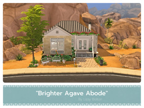 Sims 4 — Brighter Agave Abode by LizzyBolton — Sul sul my little simmers! This house is a renovation of the Agave Abode