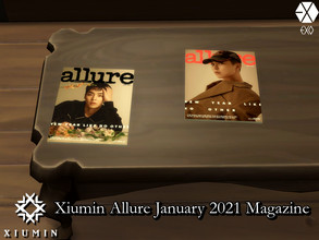 Sims 4 — Xiumin(EXO) ALLURE Jan 2021 Magazine Set - REQUIRES MESH by PhoenixTsukino — Single magazine issues of ALLURE
