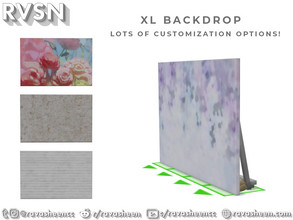 Sims 4 — XL Wedding Photo Backdrop by RAVASHEEN — The best of weddings require unforgettable photos. This XL backdrop