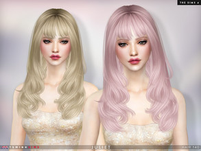 Sims 4 — Juliet ( Hair 140 ) by TsminhSims — New meshes - 20 colors - HQ texture - Custom shadow map, normal map - All