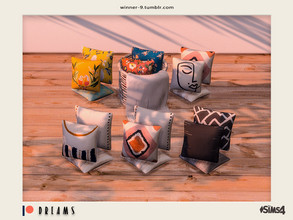 Sims 4 — Dreams - Cushions Patreon by Winner9 — Cushions from my Dreams set, you can find it easy in your game by typing