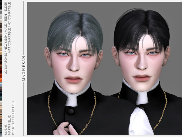 Hair mesh with Christroses