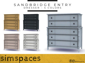 Sims 4 — Sandbridge Entry Dresser by simspaces — A gorgeous statement piece for any room - classic and coastal, available
