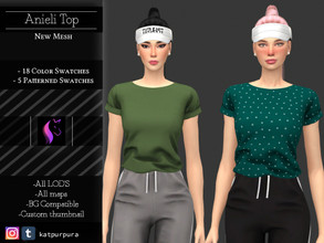 Sims 4 — Anieli Top  by KaTPurpura — Welcome to the comfortable moments with this flannel top, simple and basic, but not