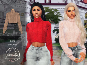 Sims 4 — Camuflaje - Sadie (Sweater) by Camuflaje — * New mesh * Compatible with the base game * HQ * All LODs (I