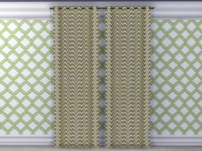 Sims 4 — Spring Is Coming Curtains by seimar8 — Bright and modern curtains. Part of Spring is Coming Set. Base Game