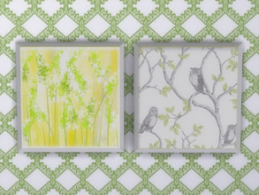Sims 4 — Spring Is Coming Wall Art by seimar8 — Bright and cheery Spring wall art. Part of Spring is Coming set. Cats