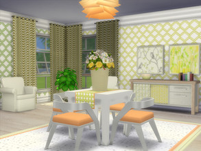 Sims 4 — Spring Is Coming  by seimar8 — A bright and cheery modern dining set to remind us that Spring is just around the