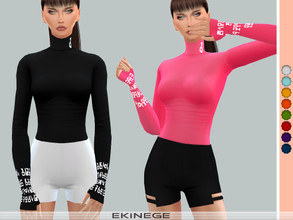 Sims 4 — Turtleneck Top With Thumb Holes by ekinege — 10 different colors.