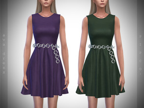 Sims 4 — Pipco - Ava Dress. by Pipco — 8 Swatches Base Game Compatible New Mesh All Lods Specular and Normal Maps Custom