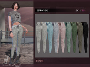 Sims 4 — DSF PANT IONET by DanSimsFantasy — High waisted jeans in cotton material, you have 16 samples.