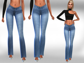 Sims 4 — Female Spanish Style Jeans by saliwa — Female Spanish Style Jeans
