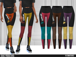 Sims 4 — ShakeProductions 608 - Pants by ShakeProductions — Bottoms/Skin Tight Leggings Handpainted 16 Colors