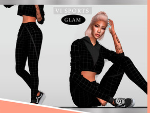 Sims 4 — Pants SPORTGLAM VI - I by Viy_Sims — New Mesh!! 3 Colors Compatible with HQ mode