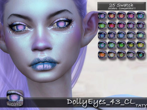 Sims 4 — [Ts4]Taty_DollyEyes_43_CL by tatygagg — - Female, Male - Human, Alien - Toddler to Elder - Hq Compatible -