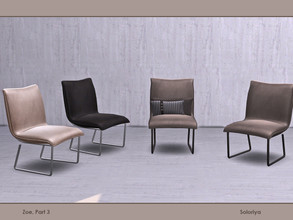 Sims 4 — Zoe, part 3. Armchair by soloriya — Leather armchair. Part of Zoe Part 3 set. 4 color variations. Category: