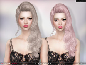 Sims 4 — Alessandra ( Hair 141 ) by TsminhSims — New meshes - 20 colors - HQ texture - Custom shadow map, normal map -