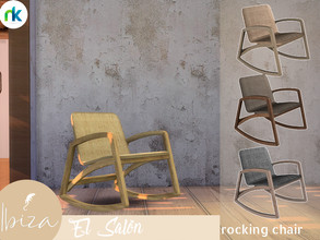Sims 4 — Nikadema Ibiza El Salon Rocking Chair by nikadema — This rocking chair is a piece that I love on this room. I