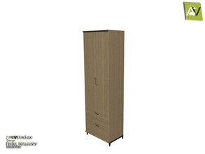 Sims 3 — Frida Shoe Closet Tall With Two Drawers And Two Doors by ArtVitalex — - Frida Shoe Closet Tall With Two Drawers