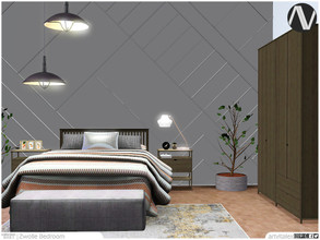 Sims 3 — Zwolle Bedroom by ArtVitalex — - Zwolle Bedroom - ArtVitalex@TSR, Jan 2021 - All objects are recolorable -