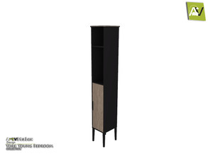 Sims 3 — York Shelf Stand With Single Door by ArtVitalex — - York Shelf Stand With Single Door - ArtVitalex@TSR, Jan 2021