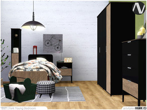 Sims 3 — York Young Bedroom by ArtVitalex — - York Young Bedroom - ArtVitalex@TSR, Jan 2021 - All objects are recolorable