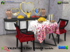 Sims 4 — kardofe_Valentine's Day Dinner by kardofe — Set of ten new tights, to recreate a beautiful Valentine's dinner