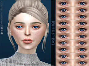 Sims 4 — Lashes 3 (HQ) by Caroll912 — - Delicate eyelashes with upper lid eyeliner in black and brown tones. - 10