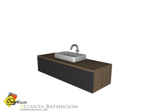 Sims 4 — Atlanta Sink by Onyxium — Onyxium@TSR Design Workshop Bathroom Collection | Belong To The 2021 Year