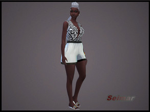 Sims 4 — Adult Female African-Caribbean Jumpsuit by seimar8 — Adult Female African-Caribbean Jumpsuit Get to Work