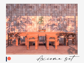 Sims 4 — Axioma dining set - Patreon Early Access for TSR by Winner9 — Stylish dining set. This set contains: 1) Dining
