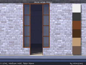 Sims 4 — Arch with Glass 2tiles Mediumwall by Mincsims — for medium wall, 2 tiles compatible with BaseGame