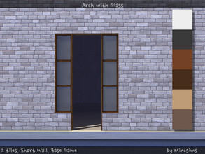Sims 4 — Arch with Glass 2tiles Shortwall by Mincsims — for short wall, 2 tiles compatible with BaseGame