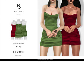 Sims 3 — Lace Trim Satin Mini Dress  by Bill_Sims — YA/AF Everyday/Formal Available for Maternity Recolorable - 1 Channel