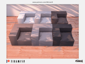 Sims 4 — Tiramisu - Corner chair left Patreon by Winner9 — Corner chair left from my Tiramisu set, you can find it easy