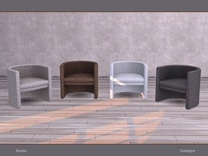 Sims 4 — Xenia. Armchair. by soloriya — Armchair. Part of Xenia set. 4 color variations. Category: Comfort - Chair