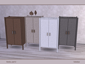 Sims 4 — Xenia, part 2. Dresser by soloriya — Dresser. Has slots for decorative items on the top. Part of Xenia Part 2
