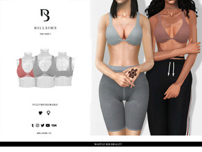 Sims 3 — Waffle Rib Bralet by Bill_Sims — YA/AF Everyday/Sleepwear/Athletic Available for Maternity Recolorable - 1