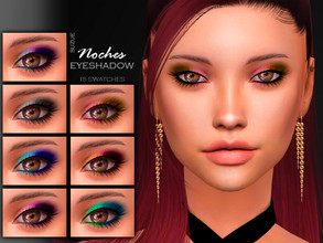 Sims 4 — [Suzue] Noches Eyeshadow N8 by Suzue — * 15 Swatches * For Female (Teen to Child) * HQ Compatible