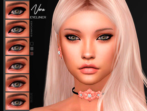 Sims 4 — [Suzue] Vera Eyeliner N12 by Suzue — * 18 Swatches * For Female and Male (Teen to Toddler) * HQ Compatible