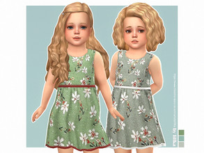 Sims 4 — Mei Dress by lillka — Mei Dress for Toddler Girls 3 swatches Base game compatible Custom thumbnail Hair by