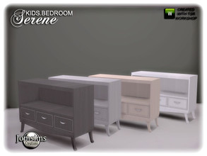 Sims 4 — Serene kids bedroom dresser more small by jomsims — Serene kids bedroom dresser more small