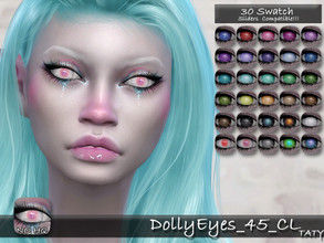 Sims 4 — [Ts4]Taty_DollyEyes_45_CL by tatygagg — - Female, Male - Human, Alien - Toddler to Elder - Hq Compatible -