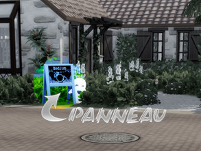 "Sims 4 — Panneau Medium by Arthermyst — It's got ""medium"" and ""Soothsayer"" in english and simlish on"