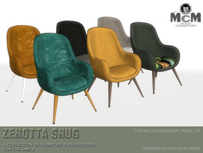 Sims 4 — Padre Zenotta Snug Accent Living Chair by Padre — Slide into the syrupy comfort of the calming aura that is the