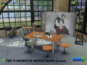 Sims 4 — kardofe_The Warehouse Dining Room  by kardofe — Set of eleven new meshes to decorate an industrial style dining