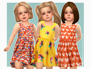 Sims 4 — Meredith Dress by lillka — Meredith Dress for Toddler Girls 3 swatches Base game compatible Custom thumbnail
